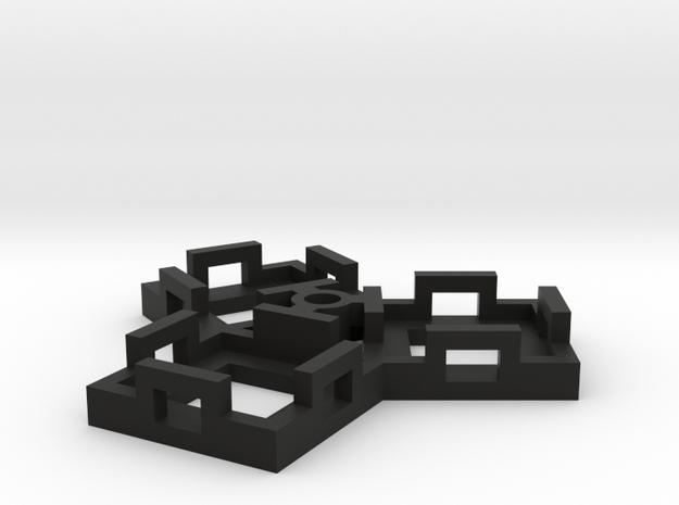 Flight Stand - 3 Dice in Black Natural Versatile Plastic