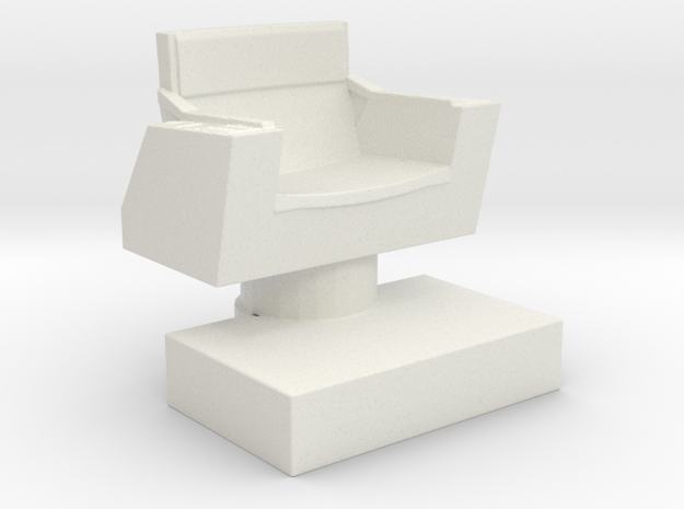 Captain's Chair (Star Trek Classic), 1/30 in White Natural Versatile Plastic