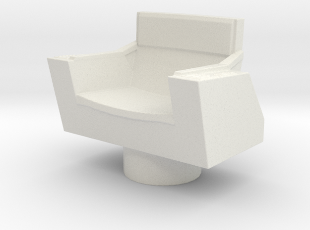 Captain's Chair, No Base (Star Trek Classic), 1/30 in White Natural Versatile Plastic