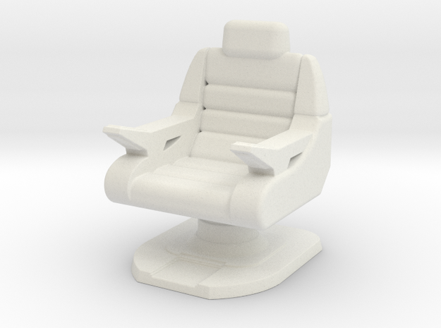 Captain's Chair, Battle Bridge (Next Gen) 1/30 in White Natural Versatile Plastic