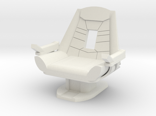 Captain's Chair (Star Trek Generations) in White Natural Versatile Plastic: 1:30