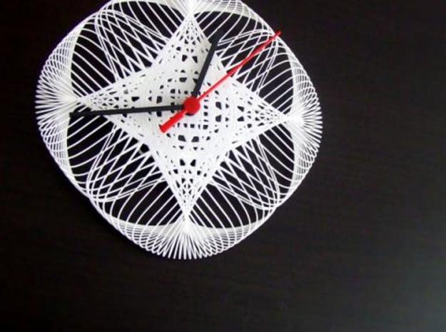 guilloche wall clock 3d printed Guilloche Wall Clock
