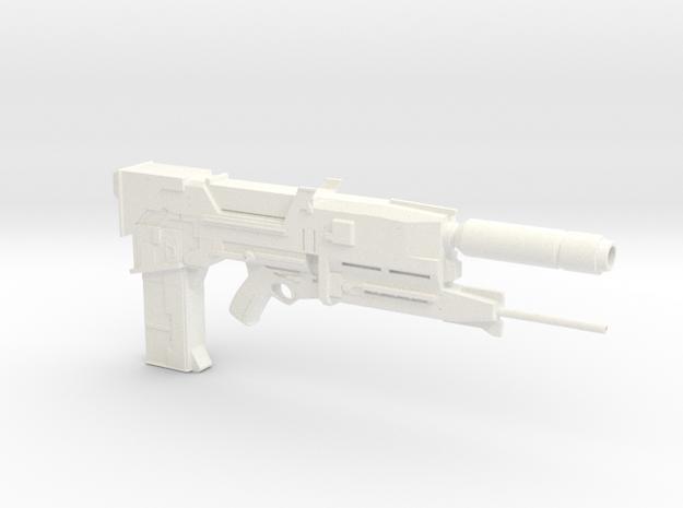 ENDO Terminator Plasma Rifle 1.4 Scaled  in White Strong & Flexible Polished
