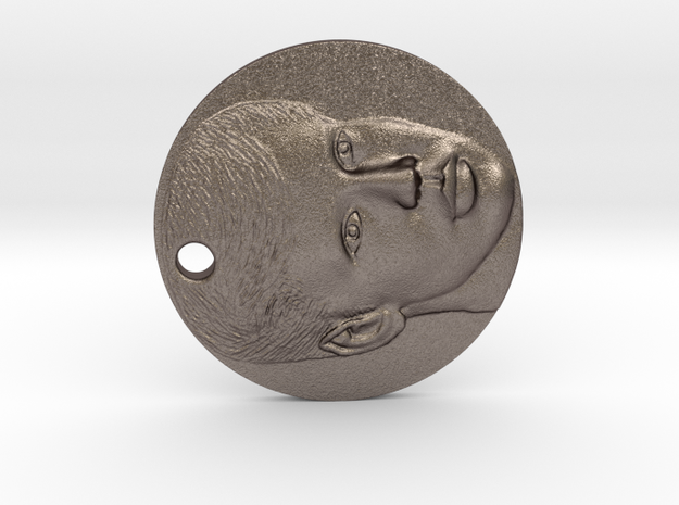MedallionGift in Polished Bronzed Silver Steel
