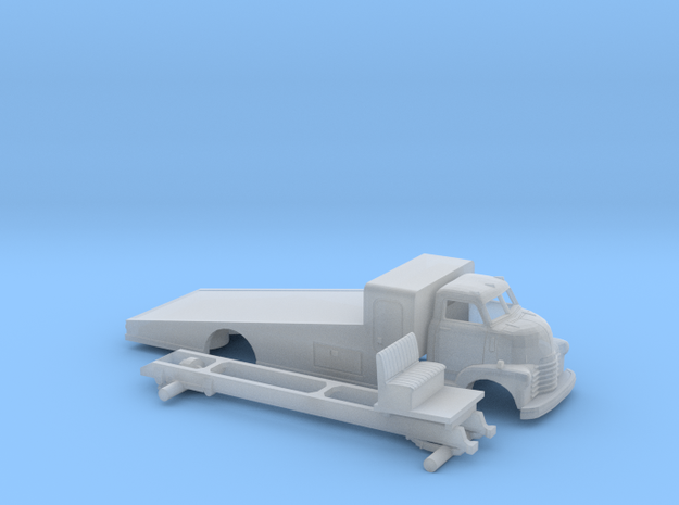 1/160 1949 Chevy COE Ramp Bed Kit in Smooth Fine Detail Plastic