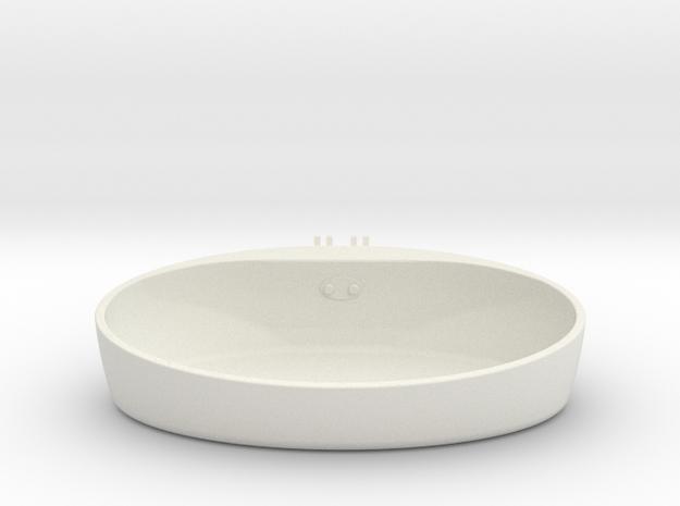 Float Orb Base in White Natural Versatile Plastic