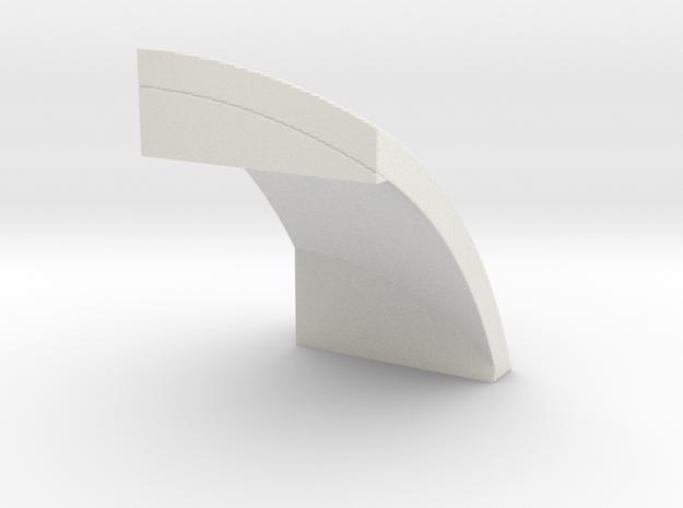 4x4 ball edge in White Natural Versatile Plastic