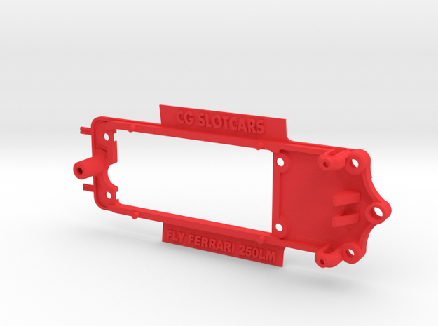 Chassis for Fly Ferrari 250LM in Red Processed Versatile Plastic