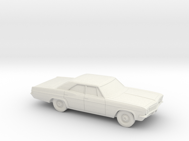 1/64 1966 Chevrolet BelAir Sedan in White Natural Versatile Plastic