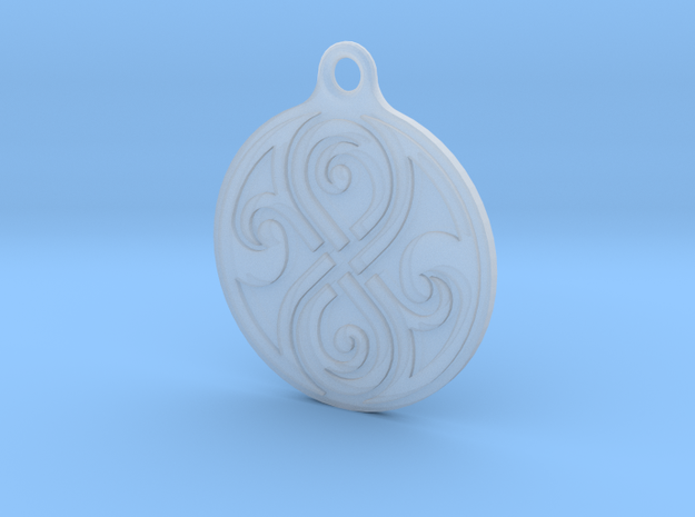 Earring of Rassilon 2cm in Smooth Fine Detail Plastic