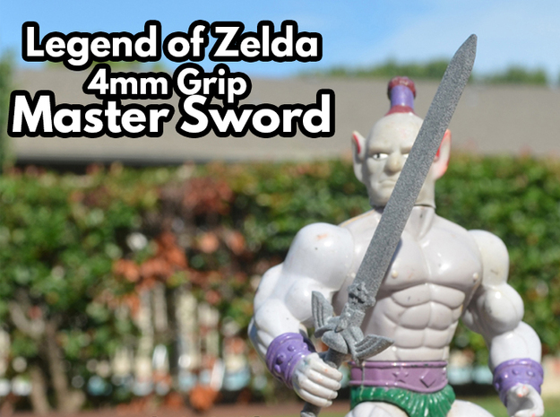 Master Sword, 4mm Grip in White Strong & Flexible