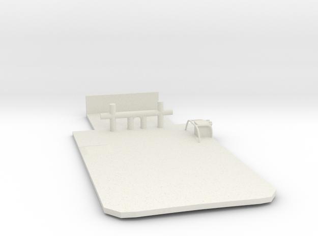 Main Deck Inlay 1/87 V54 fits Harbor Tug Boat in White Natural Versatile Plastic