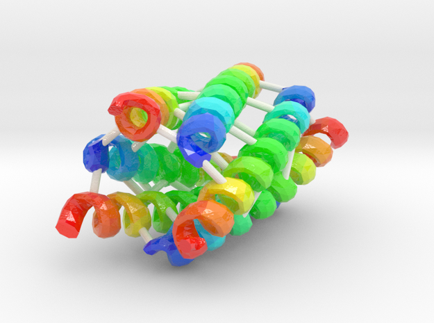 Coiled-Coil Hexamer in Coated Full Color Sandstone