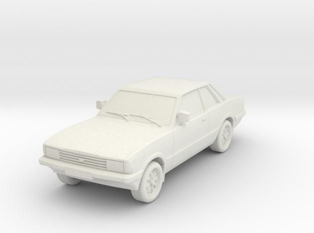 1-76 Ford Cortina Mk5 2 Door Hollow Wheels Attache in White Natural Versatile Plastic