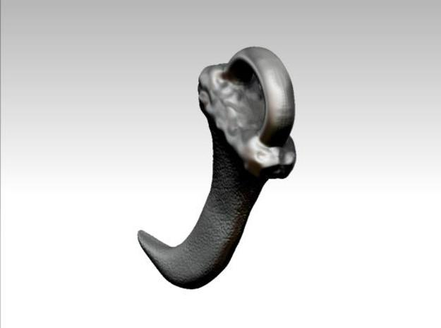Faux Claw Pendant (3cms) 3d printed Rendered image 2