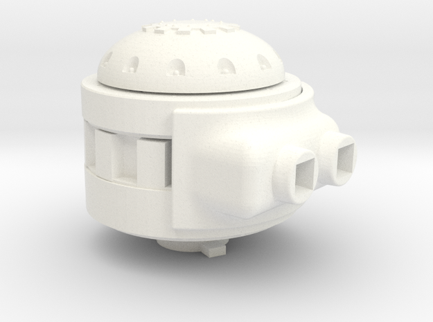 Martian Sand Crawler Weapon Mount Adapter in White Processed Versatile Plastic