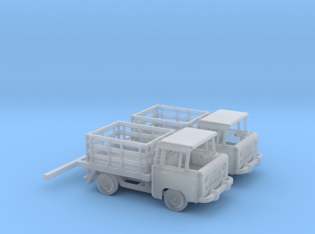 1959 FC150 Pickup Truck with Stakebed (x2) in Frosted Ultra Detail: 1:160 - N