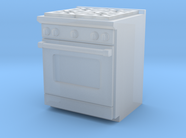 1:64 Kitchen Stove(Range) and Oven in Smooth Fine Detail Plastic
