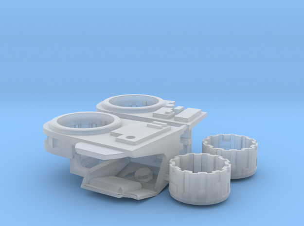 Stormwave Dorsal Missile Array Support in Smooth Fine Detail Plastic: d3