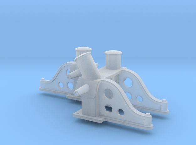 HO Scale Bitts Set for G-Tugs, High Angle in Smooth Fine Detail Plastic