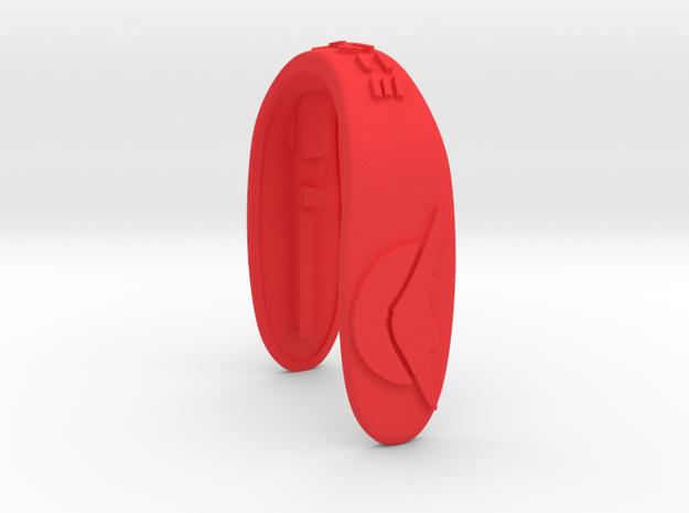 MT FUJI KEY FOB  in Red Processed Versatile Plastic