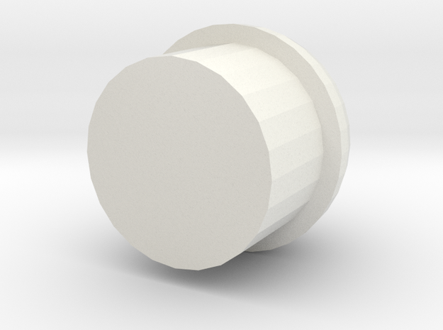 Gunder Spherical Barrel Plug in White Natural Versatile Plastic