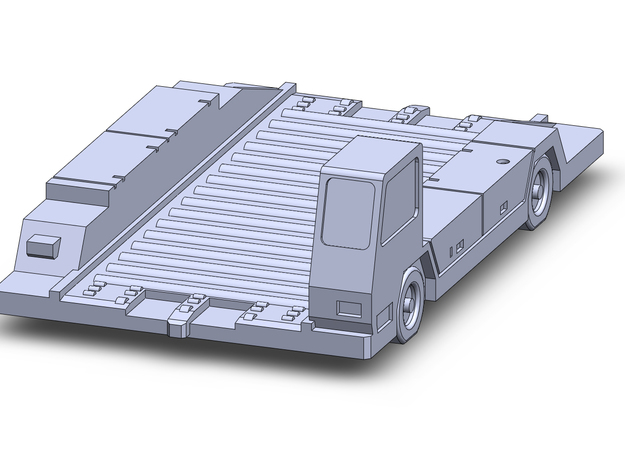 Pulsar14Short Container Transport  in Smoothest Fine Detail Plastic: 1:200