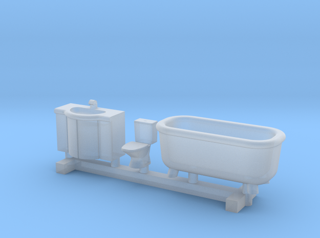 N Scale Bathroom Interior in Smooth Fine Detail Plastic