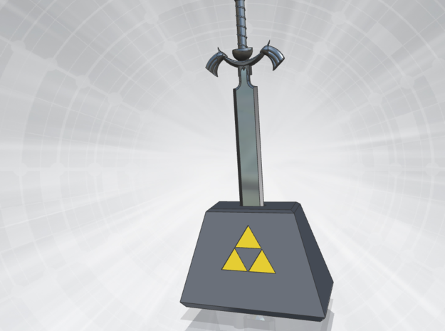 Mastersword 3d printed With Stand