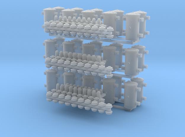 1:87 c.1950 bracket Transformer V2 30ea W/Ins in Smoothest Fine Detail Plastic