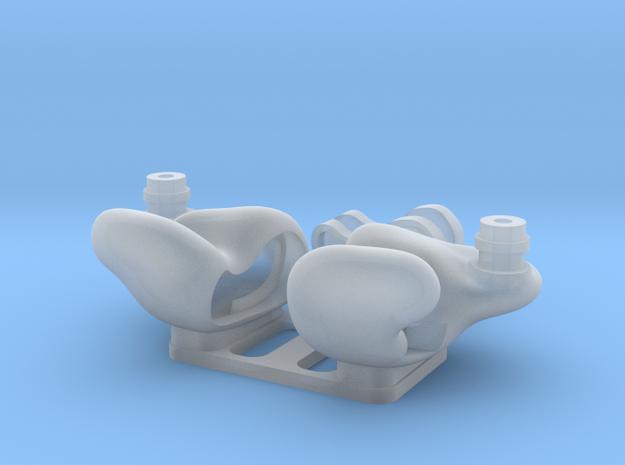 Universal IEM Shells 2 : RAB/No Engraving Ver. in Smooth Fine Detail Plastic