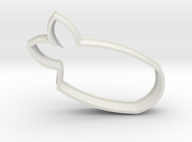Ebi/Shrimp Sushi Cookie Cutter in White Natural Versatile Plastic