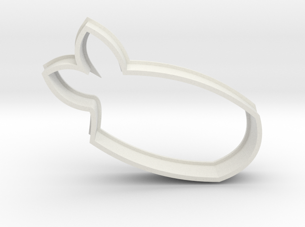 Ebi/Shrimp Sushi Cookie Cutter in White Natural Versatile Plastic