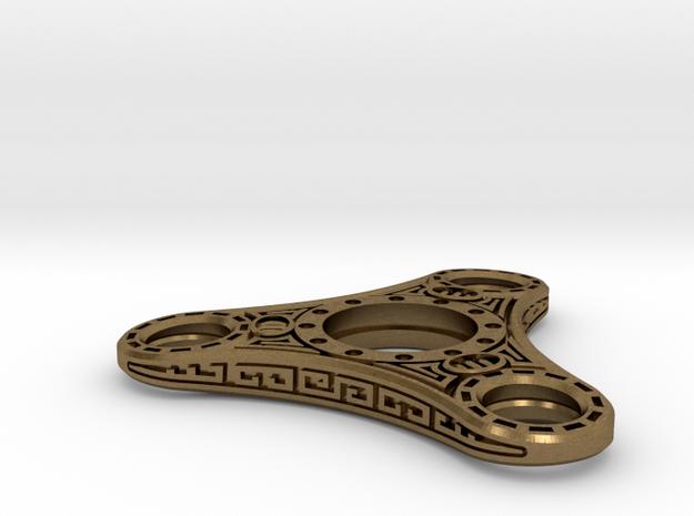 "Skyrim ""Dwemer"" style Fidget Spinner  - metal in Natural Bronze"