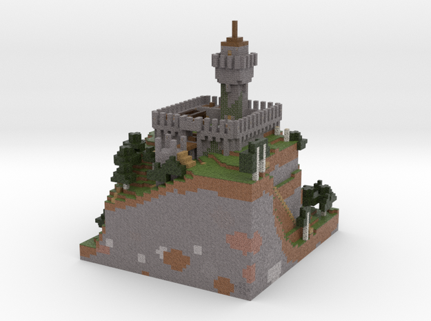 Minecraft Godes Fortress in Full Color Sandstone