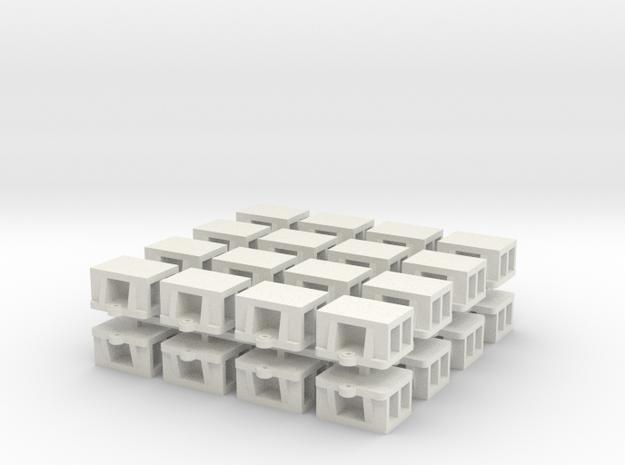 1:48 - WSF Bridge Shoe 32ea in White Natural Versatile Plastic