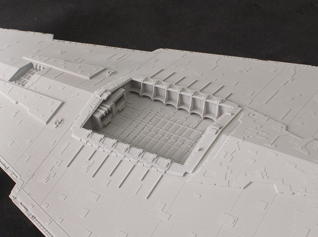 Hangar Bay for 1/2700 Revell/Zvezda Star Destroyer in Smooth Fine Detail Plastic