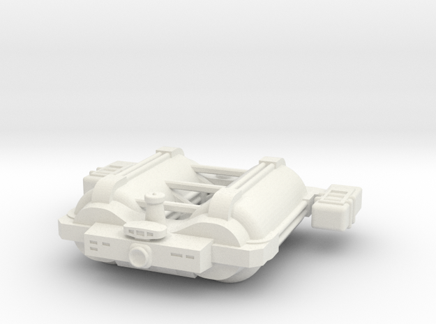 Omni Scale General Large Freighter w/Short Pods SR in White Strong & Flexible