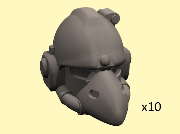28mm Crow Astrowarrior M6 helmets in Smoothest Fine Detail Plastic