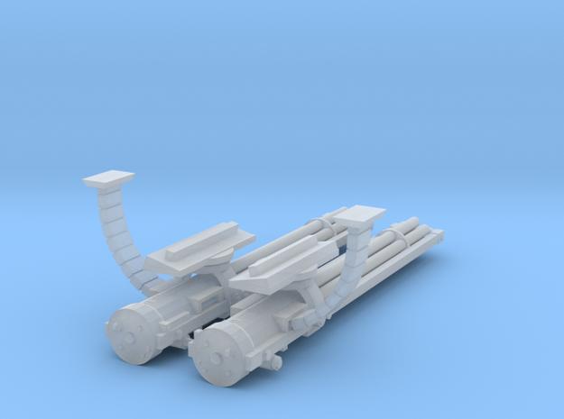 28mm Flyer Gathling guns kit in Smooth Fine Detail Plastic