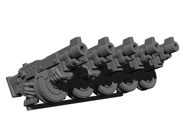 Automatic Rifle Weapons Pack in Smooth Fine Detail Plastic