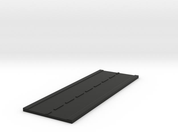 Road Straight N Scale in Black Natural Versatile Plastic