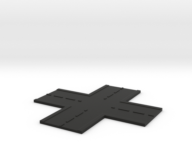 Road Crossroad N Scale in Black Natural Versatile Plastic