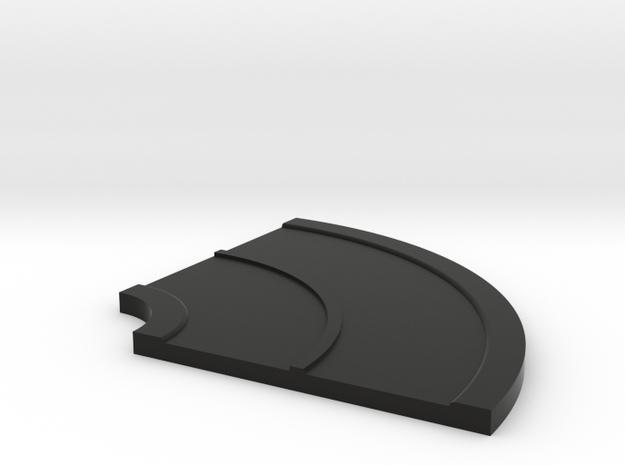 Road Curve 90 N Scale in Black Natural Versatile Plastic