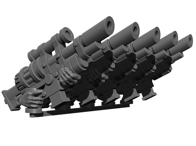 Syringe Sniper Rifle Weapons Pack in Smooth Fine Detail Plastic