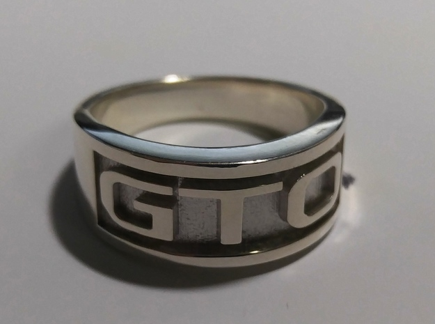 GTO Mens Automotive Ring in Premium Silver: 11.5 / 65.25