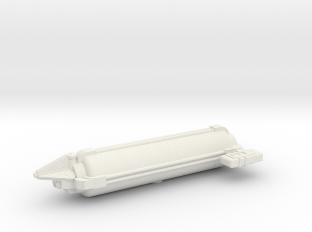 Omni Scale Tholian Small Freighter SRZ in White Strong & Flexible