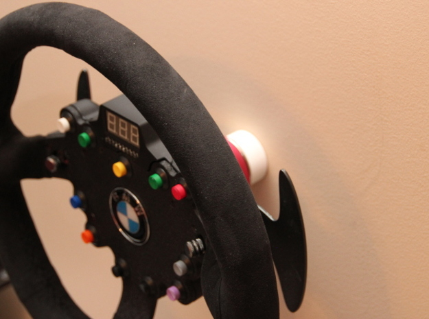 CSW Wall Mount V2 Single 3d printed GT wheel on wall mount.