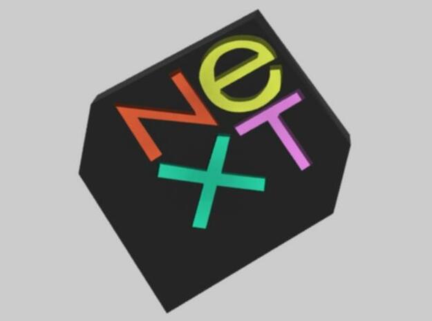 NeXt logo 3d printed Description