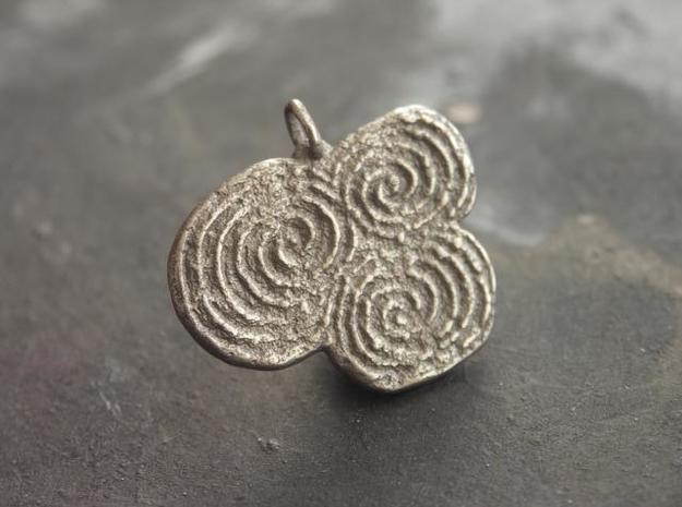 Newgrange Pendant in Polished Bronzed Silver Steel